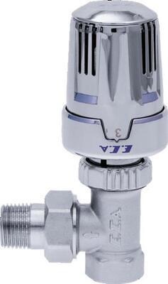 ECA Вентиль термостатический 1/2` угловой (хром) цена