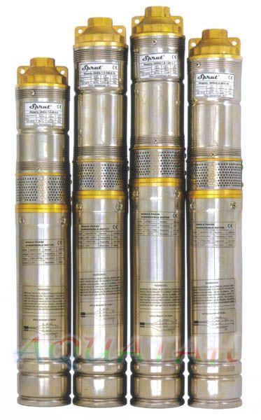 Глубинный насос Sprut QGDа 1,5-120-1.1kW нерж. + пульт