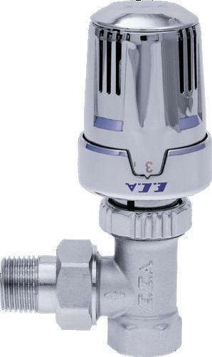ECA Вентиль термостатический 1/2` угловой (хром)
