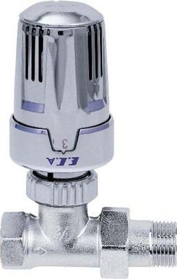 ECA Вентиль термостатический 1/2` прямой ХРОМ цена