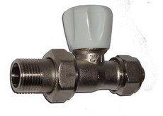 ECA Вентиль радиат. Механический 1/2` прямой под PEX (16*2.0мм)