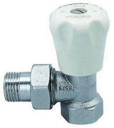 ECA Вентиль радиат. Механический 1/2` угловой (под медь)