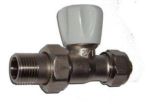ECA Вентиль радиат. Механический 1/2` угловой под PEX (16*2.0мм)