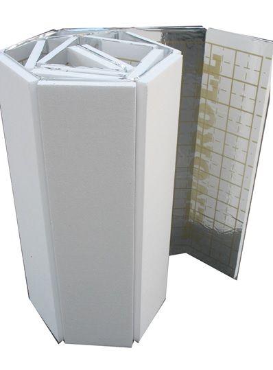 Мат под тёплый пол с разметкой, теплоотражающий 20 мм. Плотность 25кг/м3
