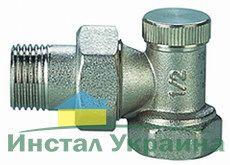 Кран радиаторный Solomon с нак. гайкой угловой п/ключ CHROM Art. 1844 ВН 3/4`