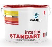Колорит Стандарт, матовая латексная акриловая краска с повышеной стойкостью к стиранию 10л. цены