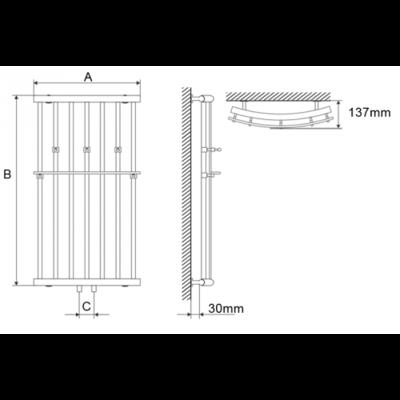 Полотенцесушитель Laris Ларис П 500х1200 mm цена