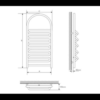 Полотенцесушитель Laris Лиана П 400х900 mm цены