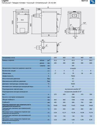 Твердотопливный котел Buderus Logano G211D- 36D цена