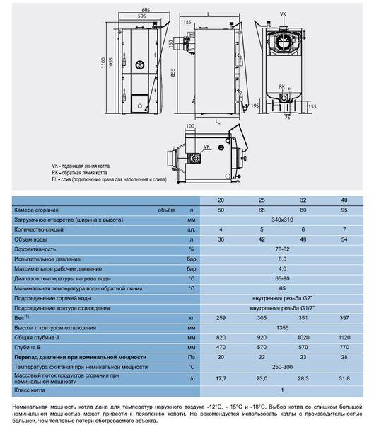 Твердотопливный котел Buderus Logano G221D - 40