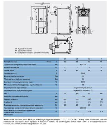 Твердотопливный котел Buderus Logano G221D - 25 цена
