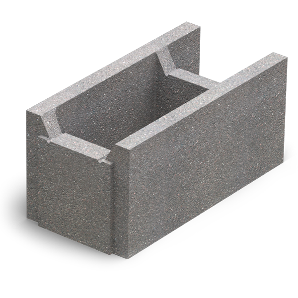 Малый бетонный блок несъемной опалубки М-100 (510х250х235)