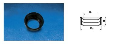 WAVIN EKOPLASTIK Манжета резиновая (переход ПВХ-чугун); 110 (3190160100) для внутренней канализации