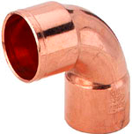 Sanha (медь) Колено 90/2м корот.5090 22мм
