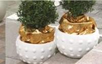 Бетонная ваза Милана 340х230 (роспись)
