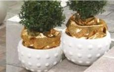 Бетонная ваза Милана 340х230 (терракотовый)