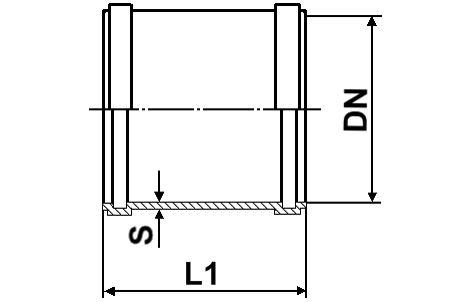 Мпласт Муфта DN 250 для наружной канализации