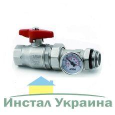 ICMA шаровый кран для коллектора с термоманометром 1` (216)