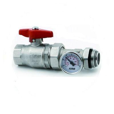 ICMA шаровый кран для коллектора с термоманометром 1` (216) цена