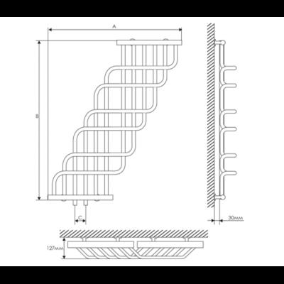 Полотенцесушитель Laris Ниагара П32/25 370х1200 mm цена