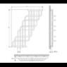 Полотенцесушитель Laris Ниагара П32/25 370х1500 mm