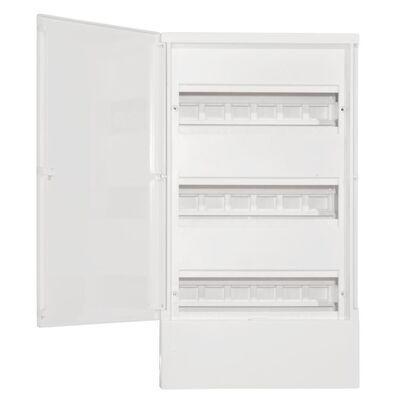 Schneider electric Щит навесной MINI PRAGMA 3 ряд 36 модулей белые двери (MIP12312) цена