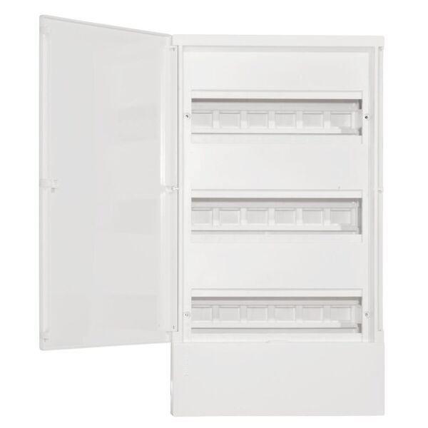 Schneider electric Щит навесной MINI PRAGMA 3 ряд 36 модулей белые двери (MIP12312)
