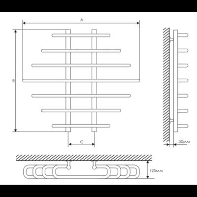 Полотенцесушитель Laris Одиссей П9 800х900 mm цены