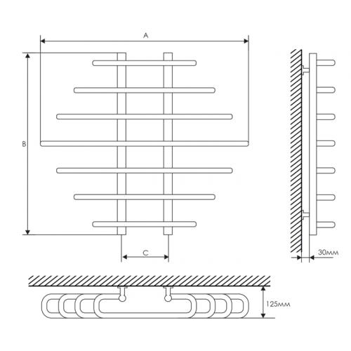 Полотенцесушитель Laris Одиссей П9 800х900 mm