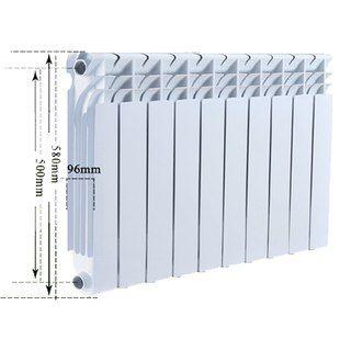 Радиатор биметаллический Bi-Camino 570x96x80