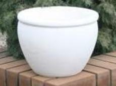 Бетонная ваза Оливия 370х280 (роспись)