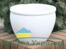 Бетонная ваза Оливия 370х280 (терракотовый)