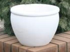 Бетонная ваза Оливия 370х280 (черный)