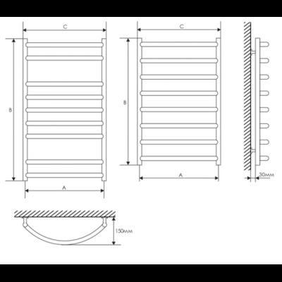 Полотенцесушитель Laris Омега П6 400х600 mm цены