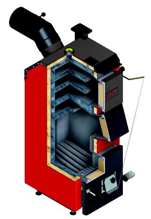 Котел на угле Defro Optima Komfort 12 кВт