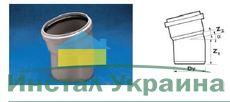 WAVIN EKOPLASTIK Отвод ВТ/ПВХ; 50/15 град. (3060341211) для внутренней канализации
