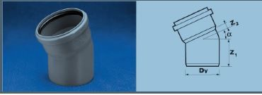 WAVIN EKOPLASTIK Отвод ВТ/ПВХ; 75/22 град. (3060341821) для внутренней канализации цены