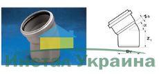 WAVIN EKOPLASTIK Отвод ВТ/ПВХ; 110/30 град. (3060342431) для внутренней канализации