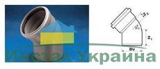 WAVIN EKOPLASTIK Отвод ВТ/ПВХ; 75/45 град. (3060341841) для внутренней канализации