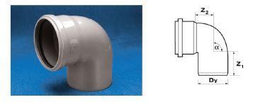 WAVIN Отвод ВТ/ПВХ; 110/88 град. (3060342481) для внутренней канализации