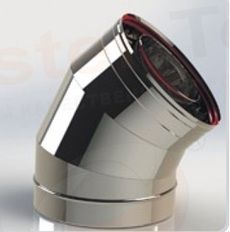 ОТВОД из нержавеющей стали (AISI 304) 45 град; 0,5 мм ф150