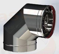 ОТВОД из нержавеющей стали (AISI 304) 90 град; 1,0 мм ф220