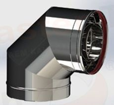 ОТВОД из нержавеющей стали (AISI 304) 90 град; 0,5 мм ф160