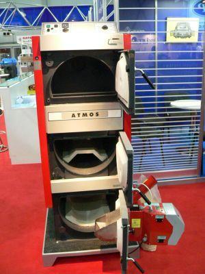 Твердотопливный пеллетный котел Atmos DC 15 EP(L) без горелки, шнека, бункера цены