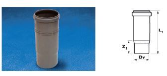 WAVIN EKOPLASTIK Патрубок компенсационный ; 110 (3261855960) для внутренней канализации