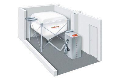 Пеллетный котел Viessmann Vitoligno 300-P 18 кВт c Vitotronic 200 (с системой всасывания) цена
