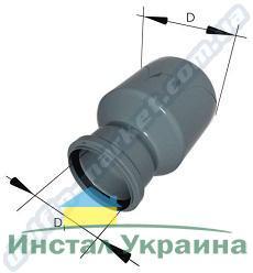 Interplast редукция 50х40 для внутренней канализации