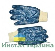 Рукавички резиновые маслостойкие с манжетом Nitril (16-227)
