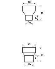 WAVIN EKOPLASTIK Переход для присоед. вентиляц. трубы, серый; 160/75 (3060601801) для внутренней канализации