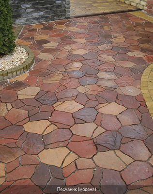 Тротуарная плитка Песчаник (модена) (6 см) цена